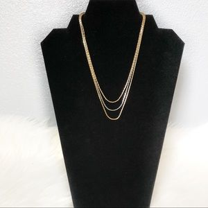 Avon Multi Layered Gold and Silver Necklace